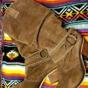 Steve Madden women's stacked heel western boots